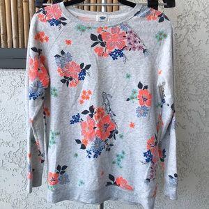 Old Navy Crewneck Floral Sweatshirt